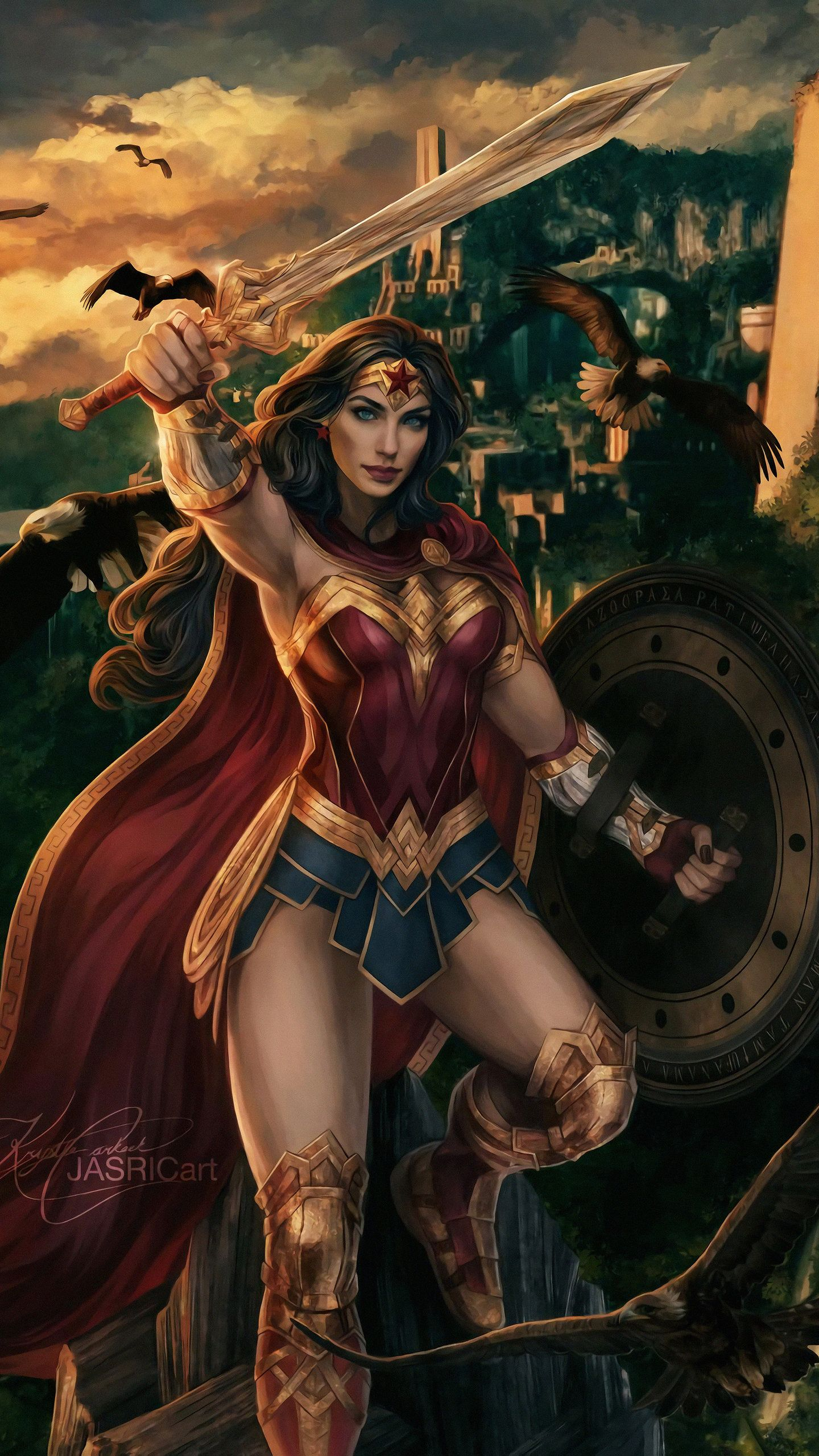 Wonder Woman Real Warrior Art 4k Hd Superheroes Wallpapers Photos And Pictures Id 43976 Wonder Woman Comic Superman Wonder Woman Wonder Woman Art