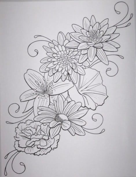 dahlia tattoo black and white - google search | small tattoos