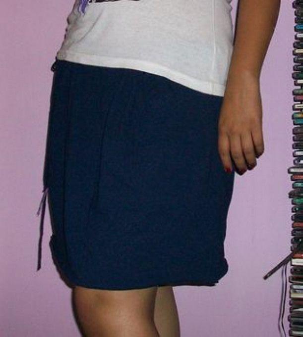 T-Shirt into skirt (no sew) #men'stshirt #men's #t #shirt #no #sew #nosewshirts