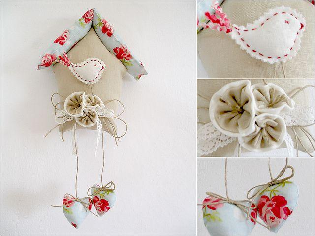 fabric birdhouse
