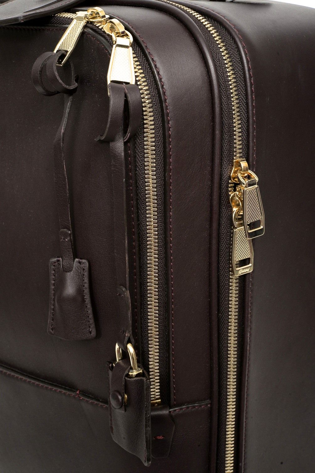Bon voyage! Travel luxuriously, with this Brioni calf leather suitcase.     Shop Bags: http://www.frieschskys.com/bags     #frieschskys #mensfashion #fashion #mensstyle #style #moda #menswear #dapper #stylish #MadeInItaly #Italy #couture #highfashion #designer #shopping