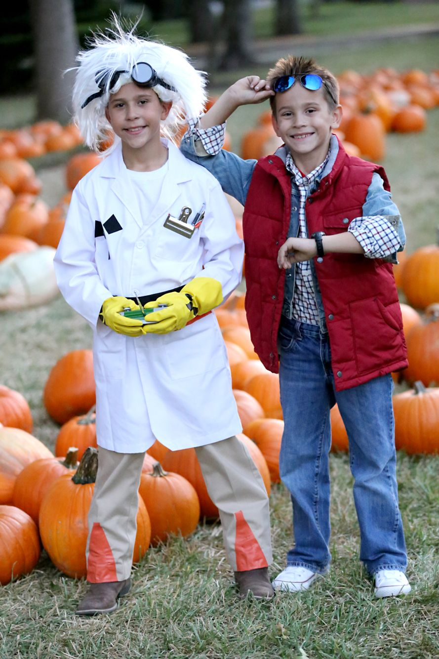 marty mcfly and doc brown back to the future kids costume diy