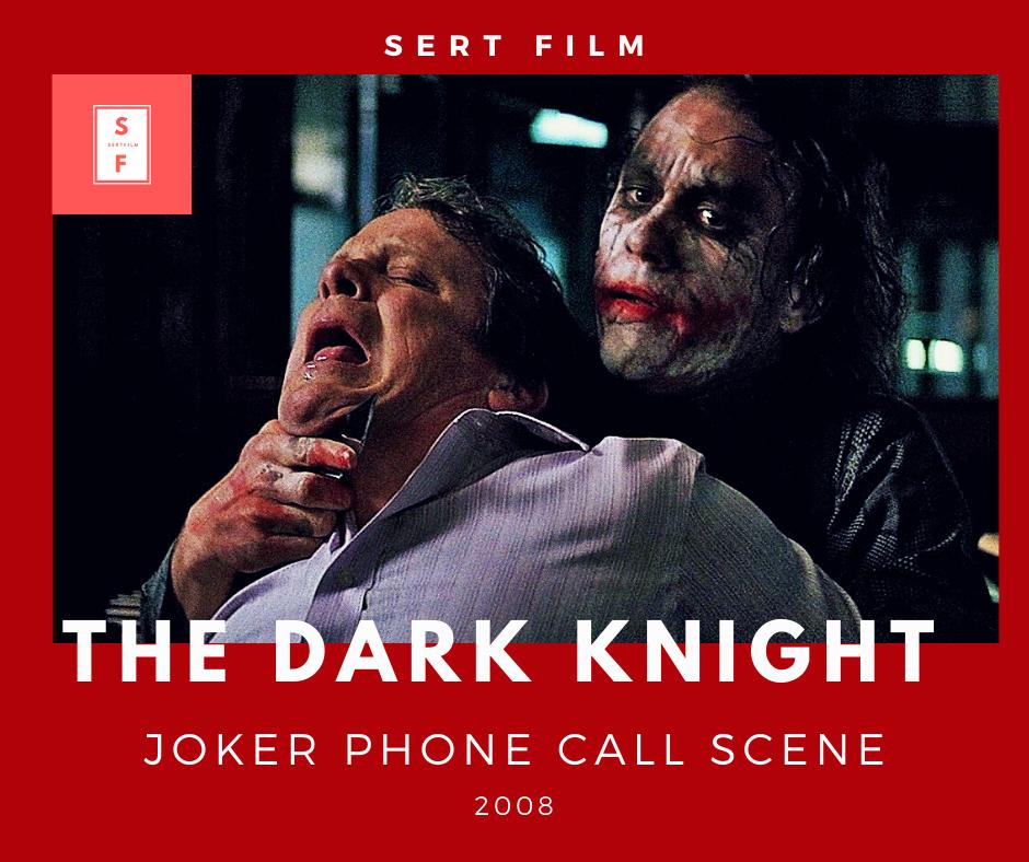 Joker Phone Call Scene The Dark Knight 2008 Michael Jai White Joker Dark Knight