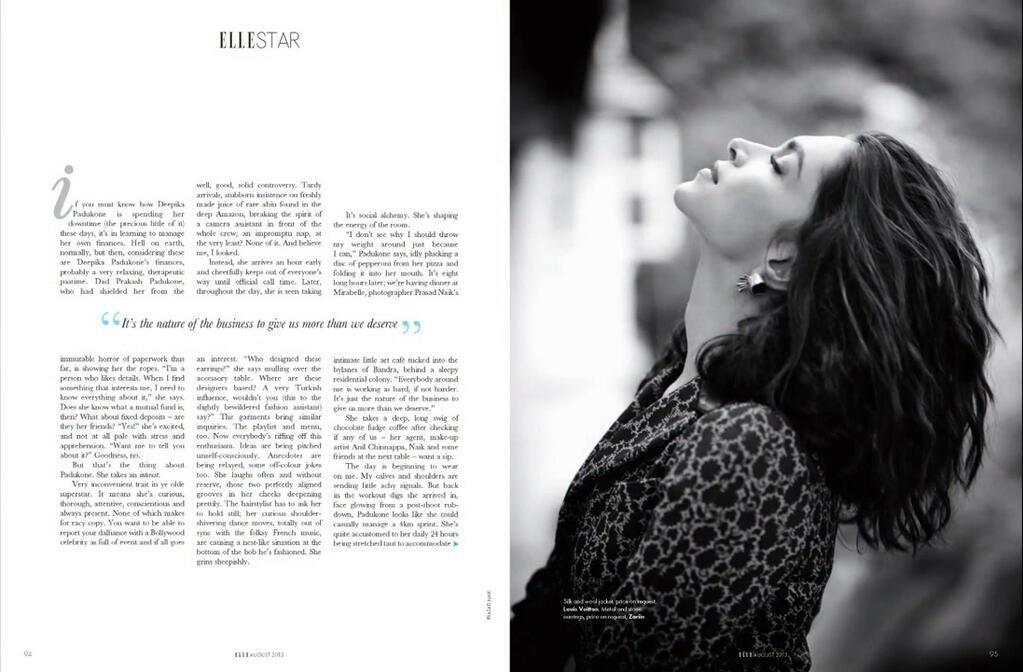 Deepika Padukone for 'Elle' | Deepika padukone, Becoming ...