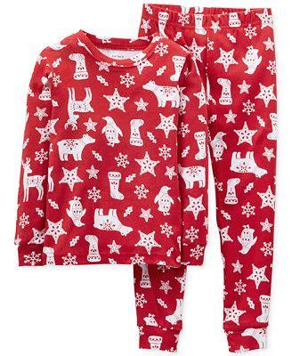 245b7dd4a Carter s Baby Boys  2-Piece Nordic Pajamas