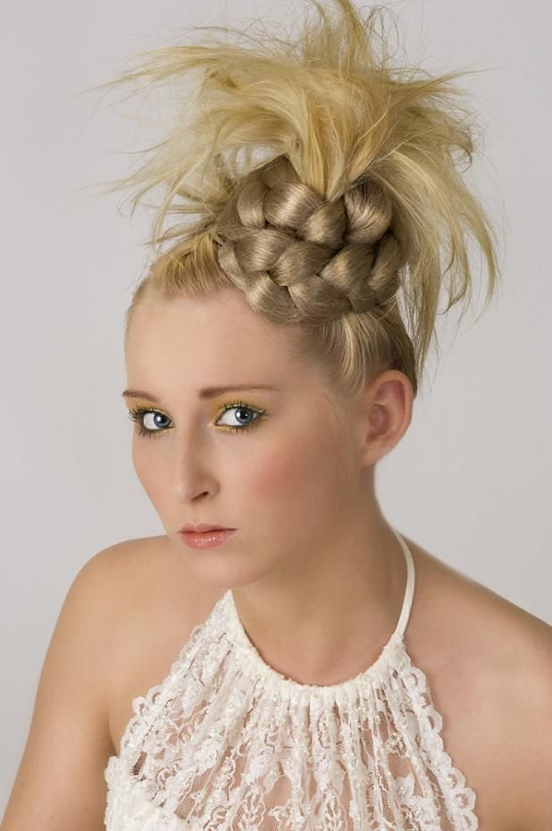 style of the hair spiky braid up do funky and for the edgy gal 7353