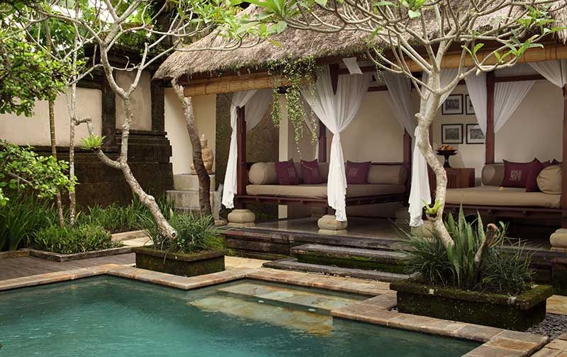 Bali Hotel The Ubud Village Resort And Spa Official Website Outdoor Beds Pool Houses Bali Hotels