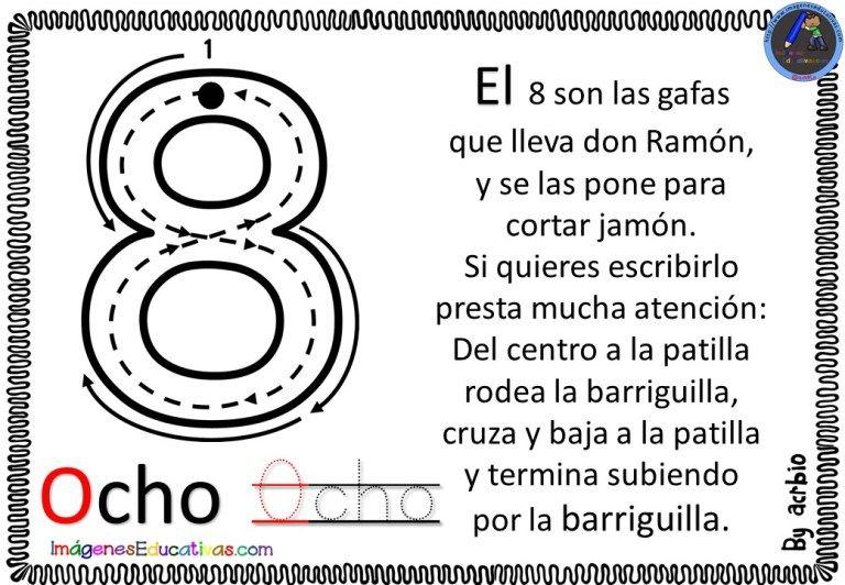 La Canción De Los Números 8 Letras De Canciones Infantiles Actividades De Matemáticas Preescolares Actividades De Lectura Preescolar