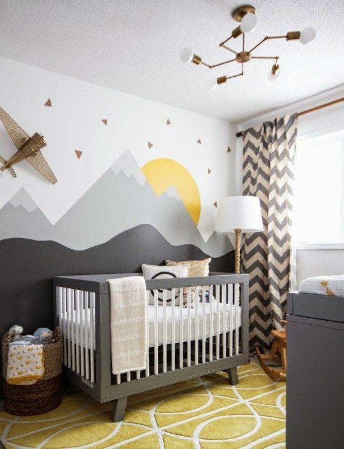 Superior Babyzimmer Gestalten Babybett Und Wandgestaltung In Grau