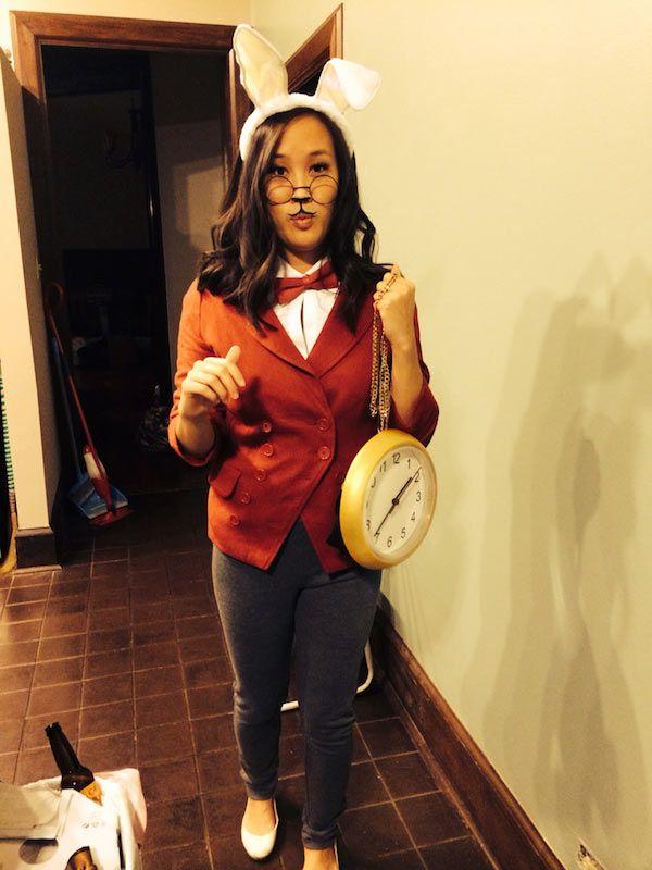 DIY Alice in Wonderland White Rabbit March Hare Halloween Costume - food halloween costume ideas