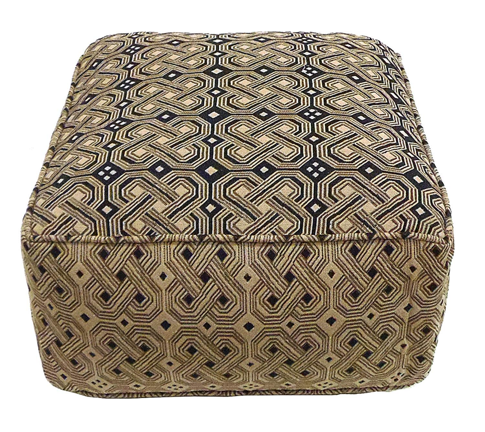 Amazon Com Cotton Craft Handmade Cotton Kuba Pouf 100 Cotton Fabric Floor Ottoman Truly One Of A Kind Seating Cotton Crafts Handmade Ottomans Ottoman