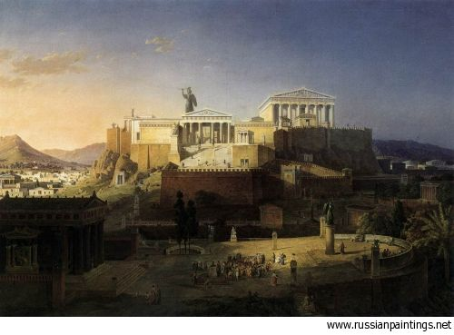 Leo Von Klenze - The Acropolis at Athens