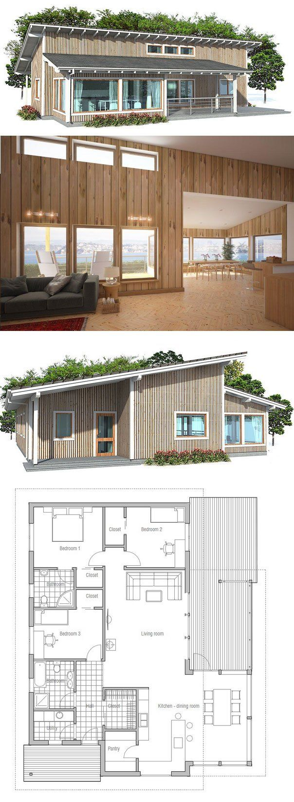 Small home design simple lines and spacious interior for Simple affordable house plans