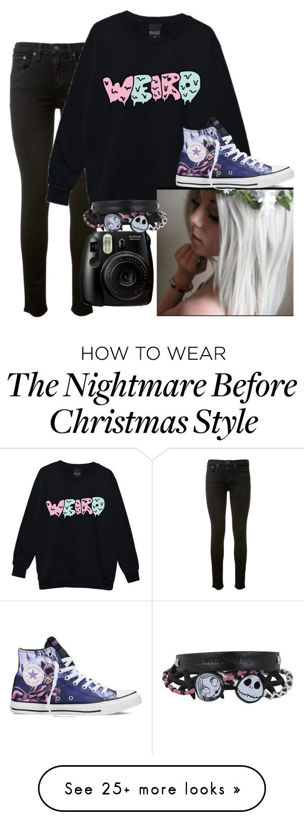 """""""We could live like Jack and Sally"""" by skittlesrae on Polyvore featuring rag & bone and Converse"""