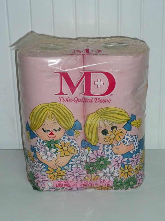 MD Toilet Paper With The Little Doll Girls On Package Cute Got A