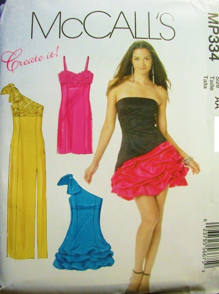 McCall MP334 6283 Pattern Ballroom Dance Dresses UNCUT Create it! Size 6-8-10-12 in Collectibles | eBay
