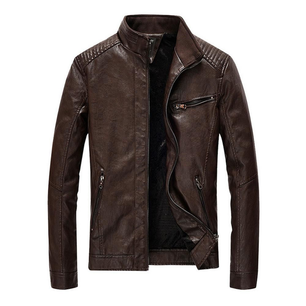 Mens Faux Leather Biker Jacket In 2021 Leather Jacket Men Leather Jacket Winter Leather Jackets [ 1000 x 1000 Pixel ]