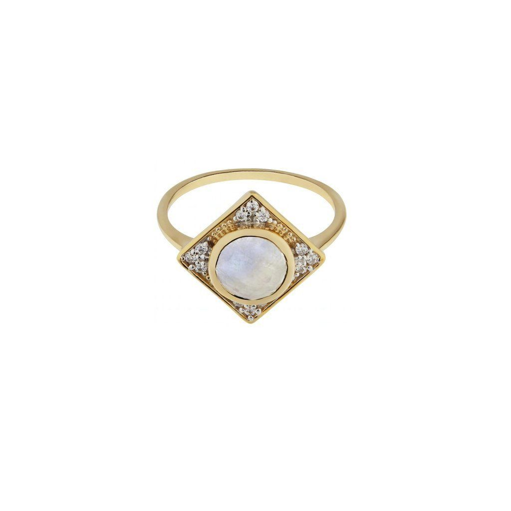 Phoebe moonstone and diamond ring moonstones diamond and ring