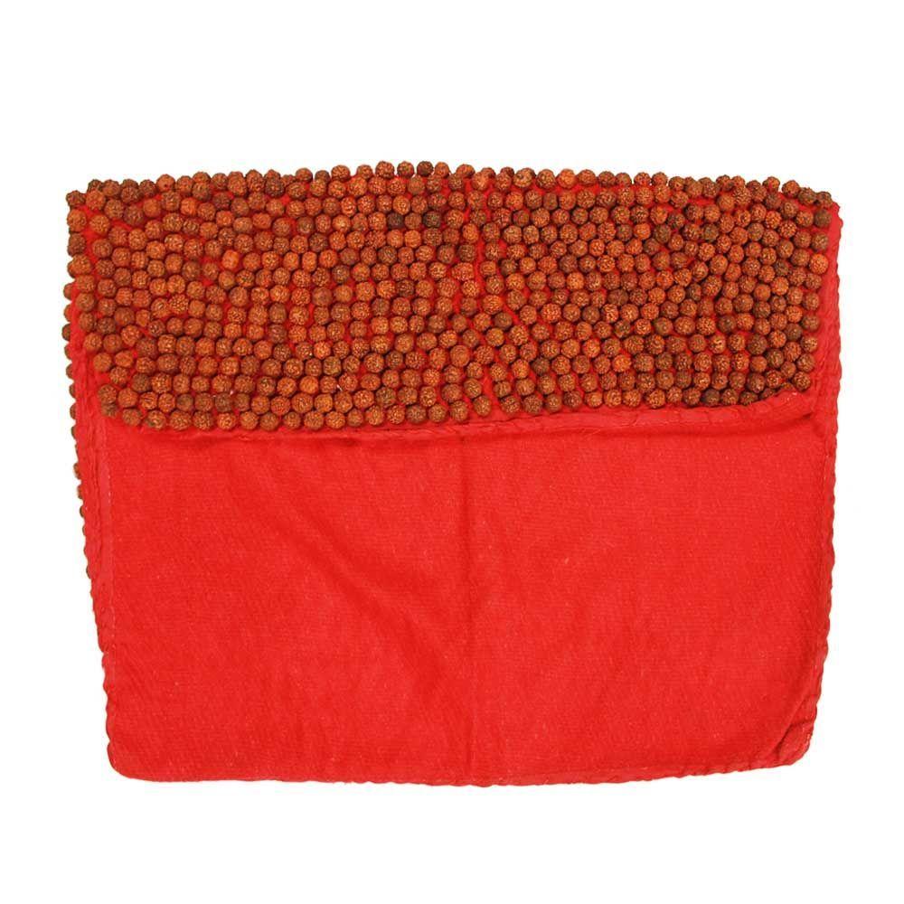 Rudraksha Mat On Red Cloth Hand Weaving Meditation Mat Mat Online