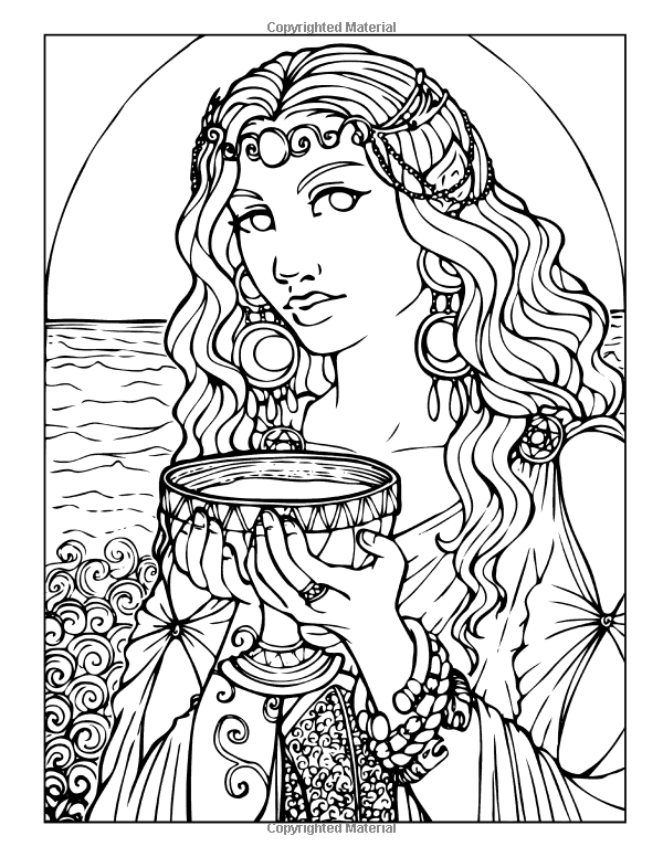 Fairies, Nymphs & Witches: Coloring Book (Enchanted Colors): Monica N. Galvan: 9781512026399: Amazon.com: Books