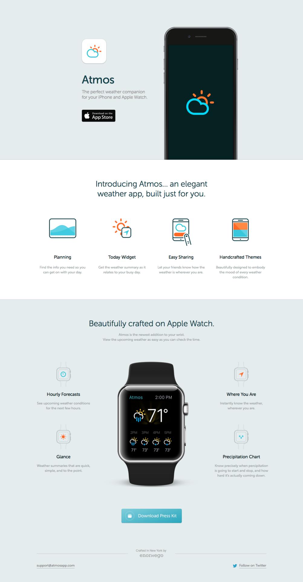 Atmos App Landing page, Apple