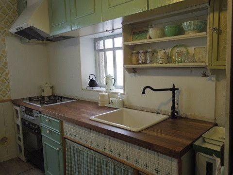 Diyでikeaのワークトップと陶器のシンクに交換 完成編 キッチンインテリアデザイン キッチンデザイン キッチン Diy