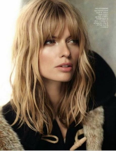 Coiffures Cheveux Mi Longs Frange Beauty Hair Pinterest Hair