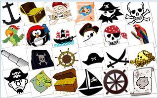 http://www.kindergeburtstagplanen.com/piratenspiele-piraten-pairs Piraten-Pairs-Spiel für den Piratengeburtstag