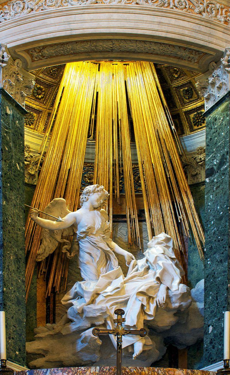 L'estasi di Santa Teresa d'Avila di Lorenzo Bernini che si trova in Roma nella chiesa di Santa Maria della Vittoria