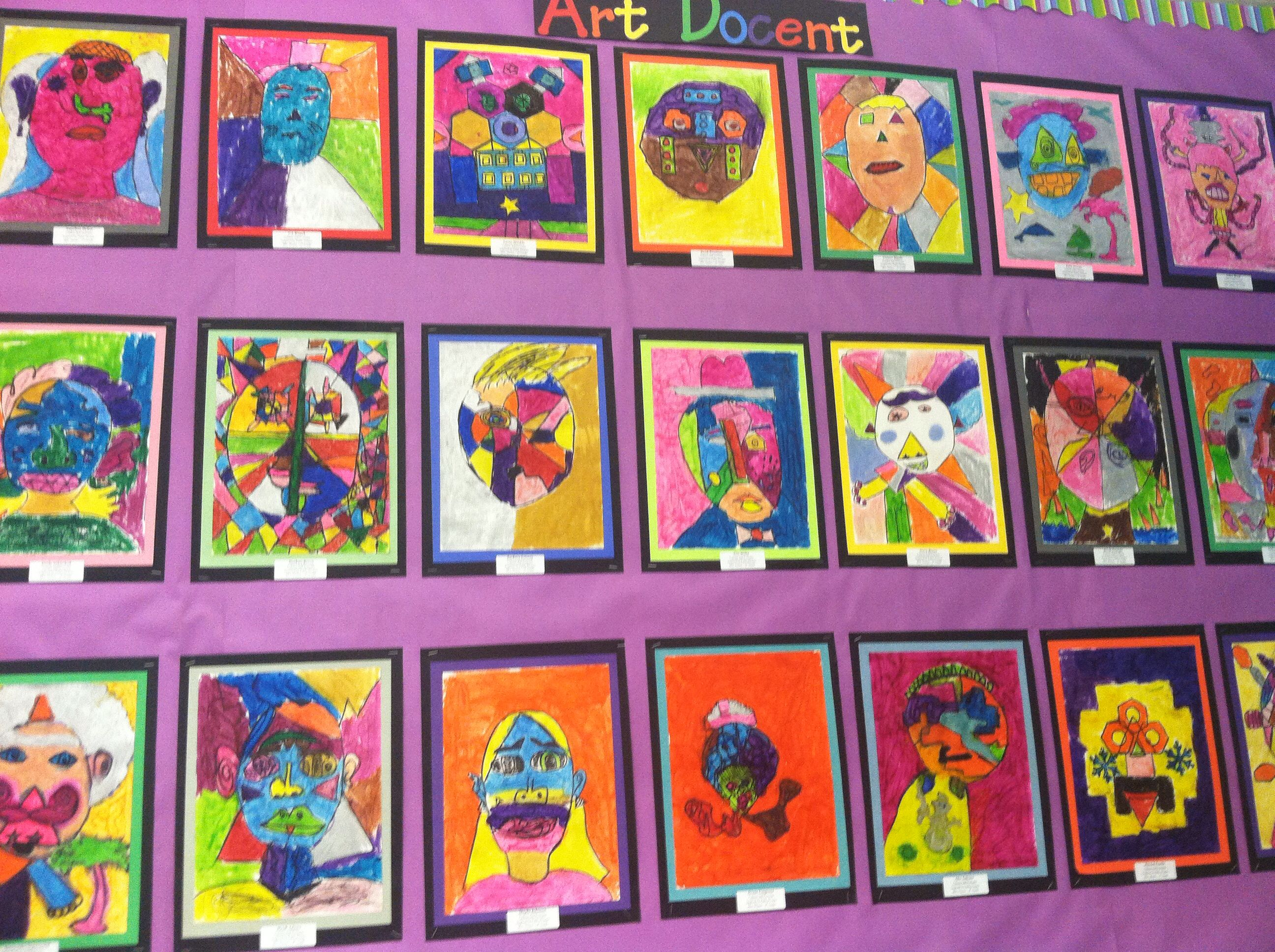 Pablo Picasso Inspired Self Portraits With My 5th Grade