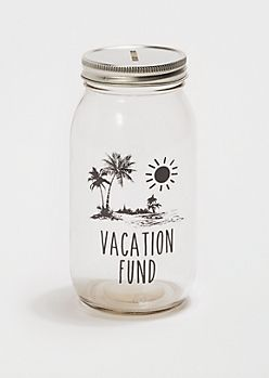 Vacation Fund Mason Jar Bank Savings Jar Diy Mason Jar Bank Vacation Savings Jar