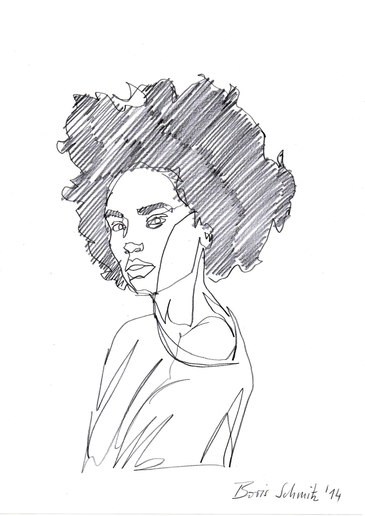 Line Drawing Hair : Borisschmitz quot gaze one continuous line drawing by