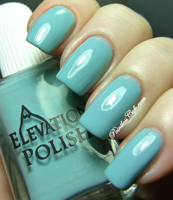 JENGISH CHOKUS from the VIEW FROM THE TOP COLLECTION (MARCH 2013) - ELEVATION POLISH: a sea glass cream - no shimmer - great shine!