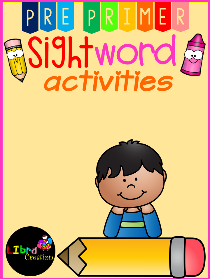 Sight Word Activities Pre-Primer | Kind