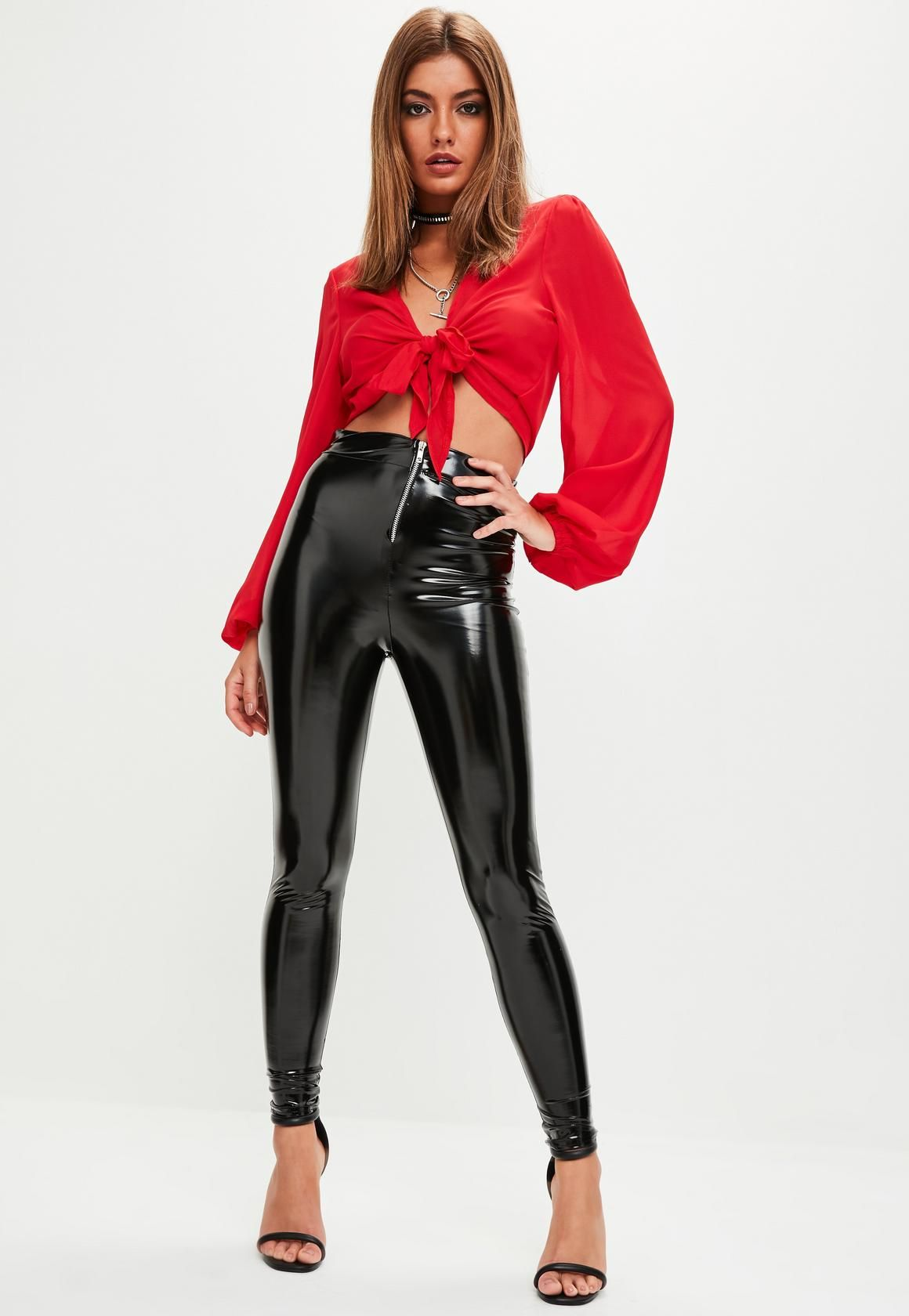 ff02a149eedff Missguided - Black Vinyl Leggings | Mode | Vinyl leggings, Vinyl ...