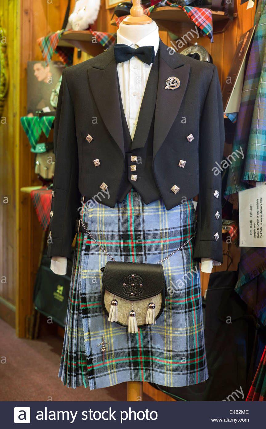 Download This Stock Image Highland Dress Bell Of The Borders Tartan Kilt Sporran Prince Charlie Jacket At Lochcarron Weavers Shop Tartan Kilt Tartan Kilt