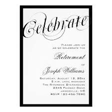 Classy retirement invitation