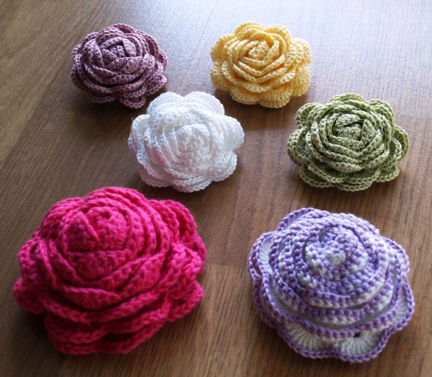 My crochet roses