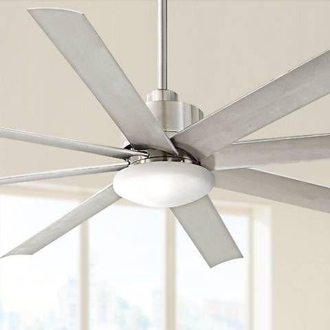 65 Minka Aire Slipstream Brushed Nickel Outdoor Ceiling Fan 3c144 Lamps Plus Ceiling Fan Led Ceiling Fan Dimmable Led Lights Brushed nickel outdoor ceiling fan
