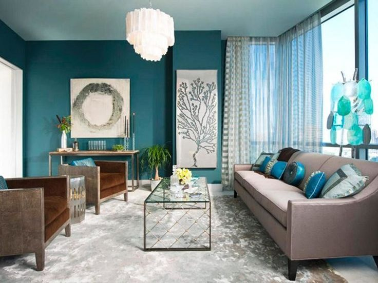 Living Room Artistic Paintings Decoration For Teal