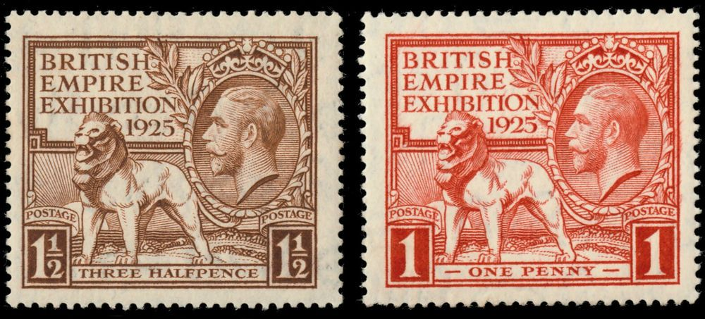 GB KG V SG432433 British Empire Exhibition 1925 MINT PAIR