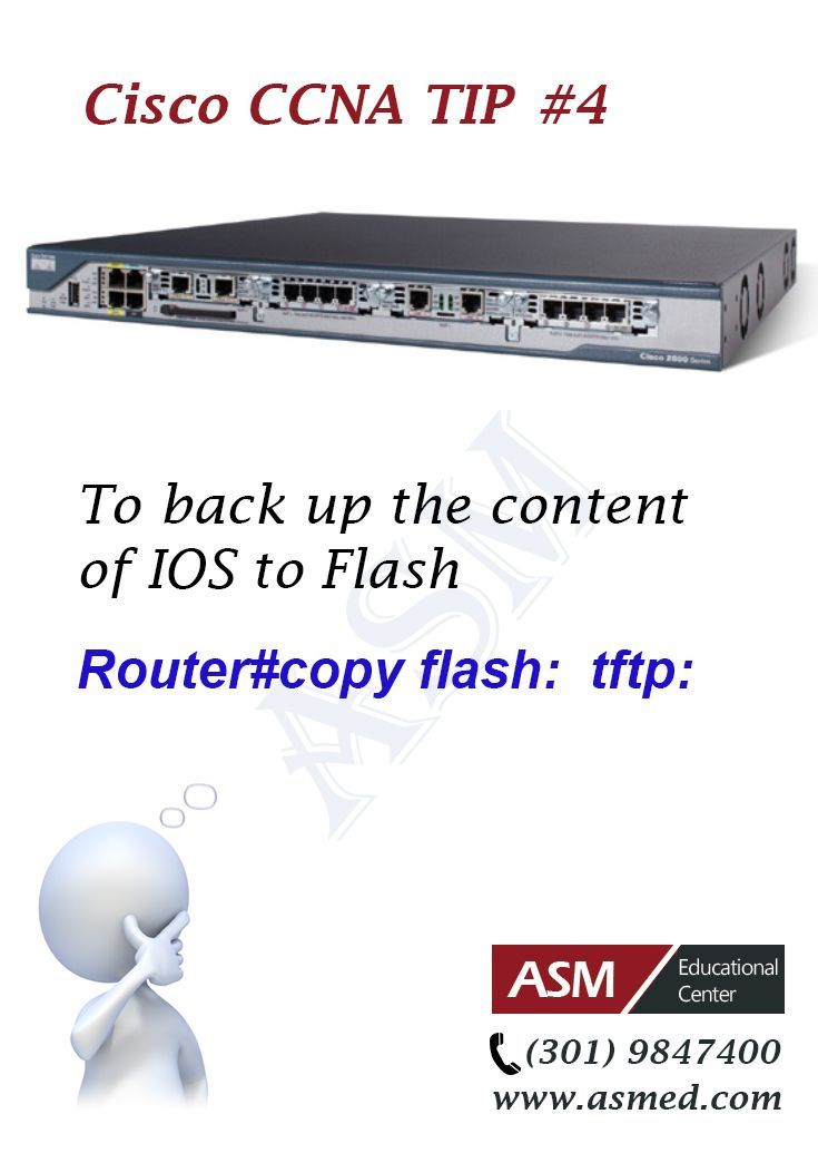Cisco CCNA Certification Tip #4 -To back up the content of IOS to ...