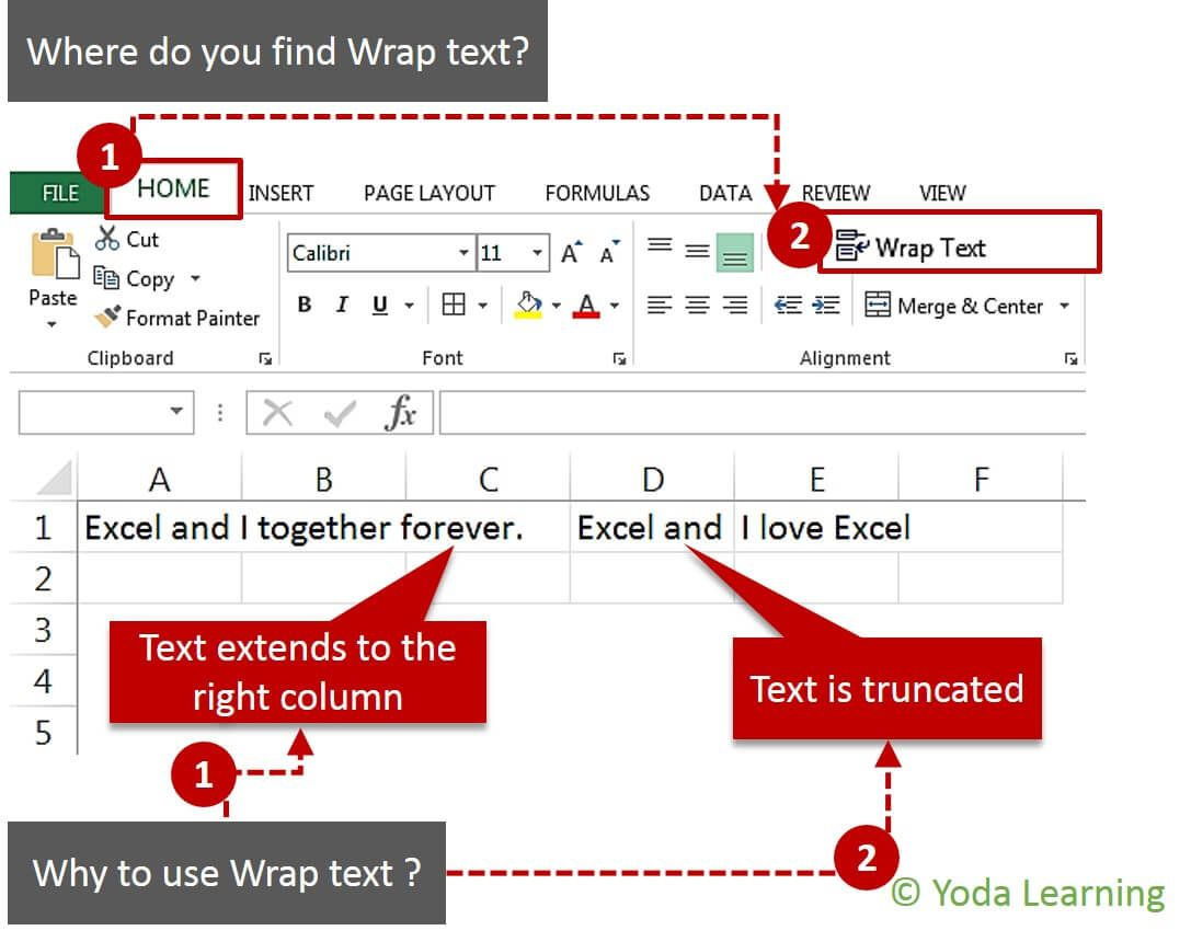 How To Quickly Wrap Text In Excel Cells With Images