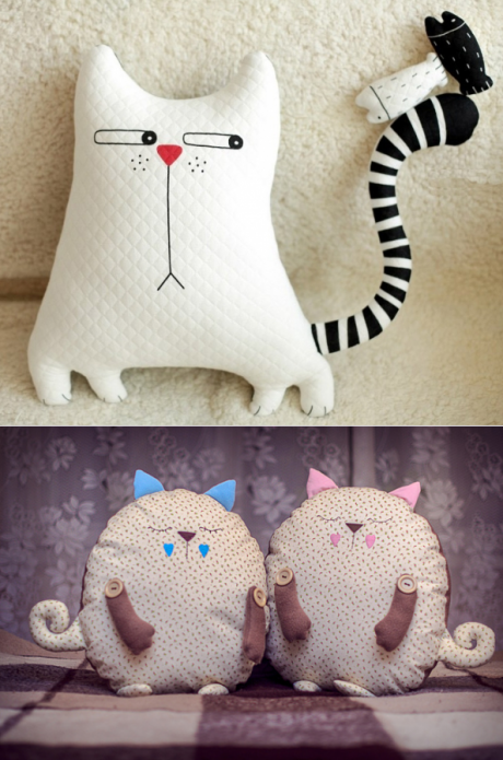 Подушка кот своими руками: выкройки, фото идеи, видео мастер 67