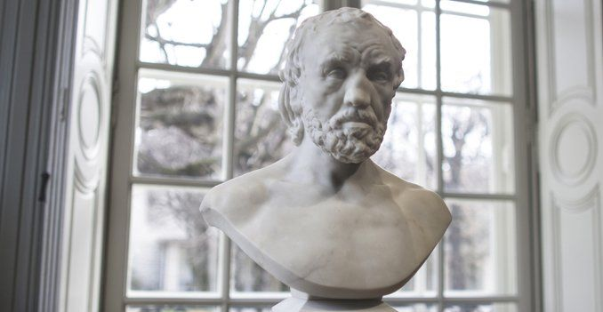 #Musee #Rodin #Paris #artworkoftheweek Man with the Broken Nose began as a simple portrait of an elderly workman. http://ow.ly/YvxFs