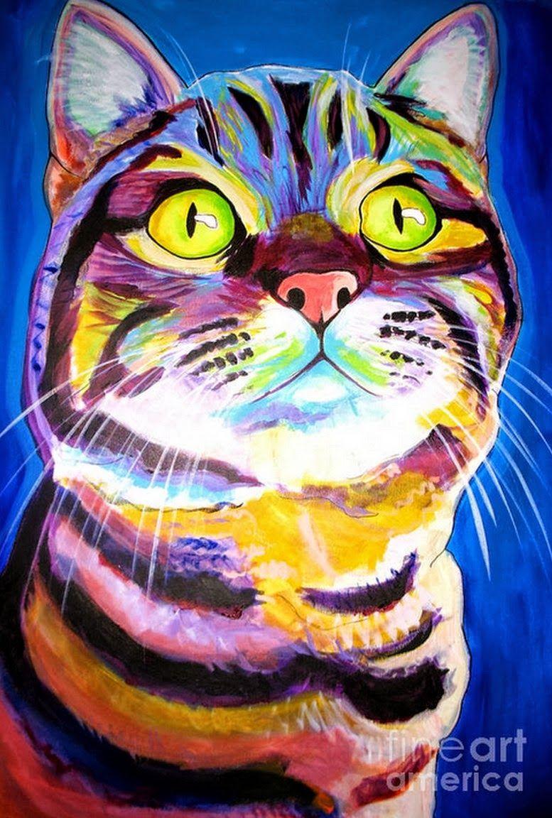 Pintura Moderna Y Fotografía Artística Cuadros De Gatos