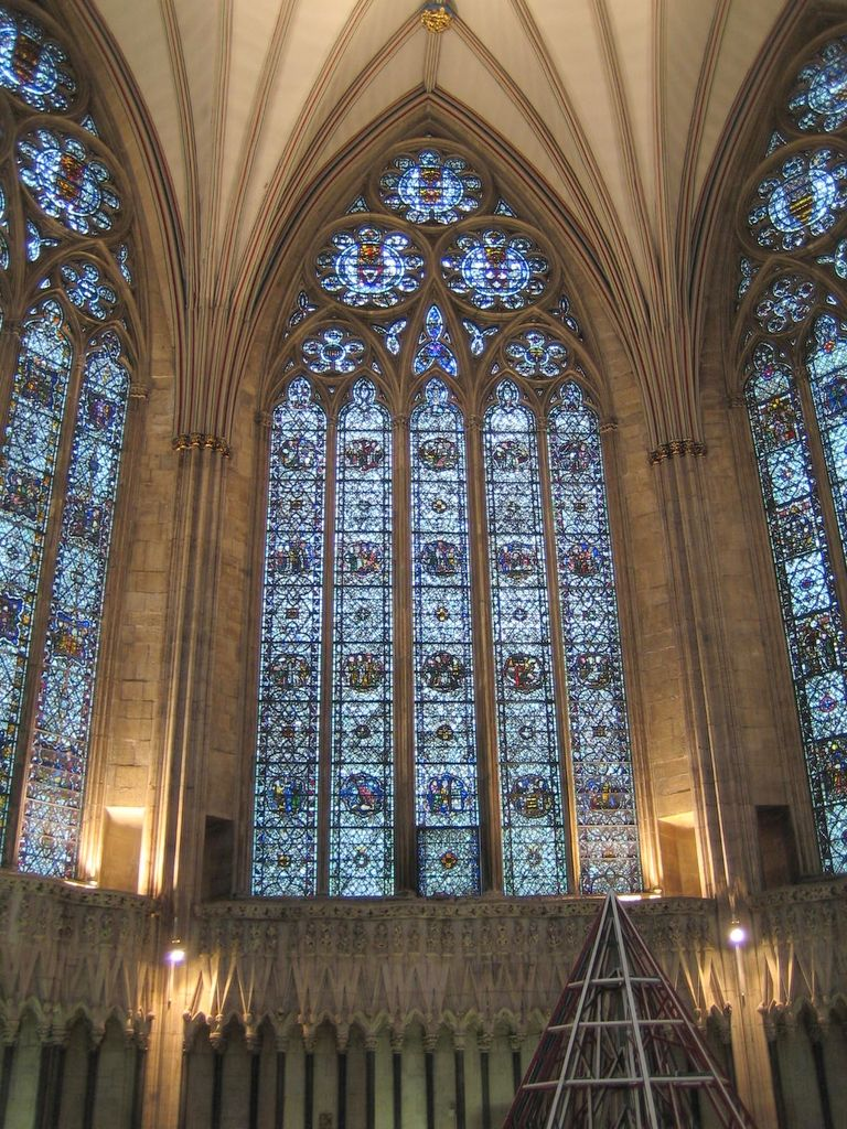 Most of these magnificent windows are restorations