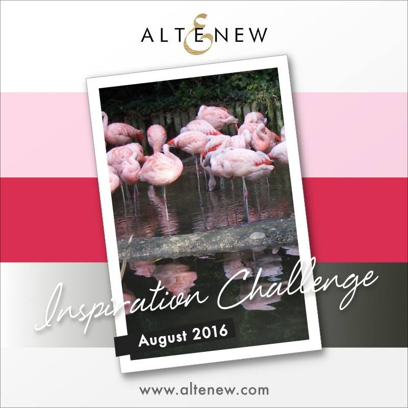 This month at the Altenew blog  you can take inspiration from this photo, these flamingos totally amazed me when I saw them at the Jersey Zoo and I hope they can inspire you too!   You can see…