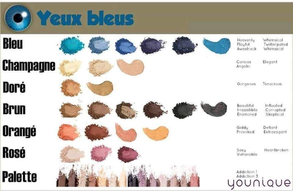 maquillage quelles couleurs vont quels yeux produits younique maquillage maquillage. Black Bedroom Furniture Sets. Home Design Ideas