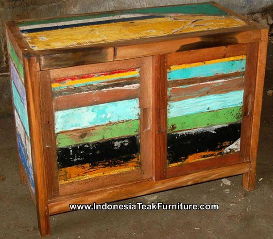 Reclaimed Teak Boat Wood Boat Furniture Recycled Wood Furniture